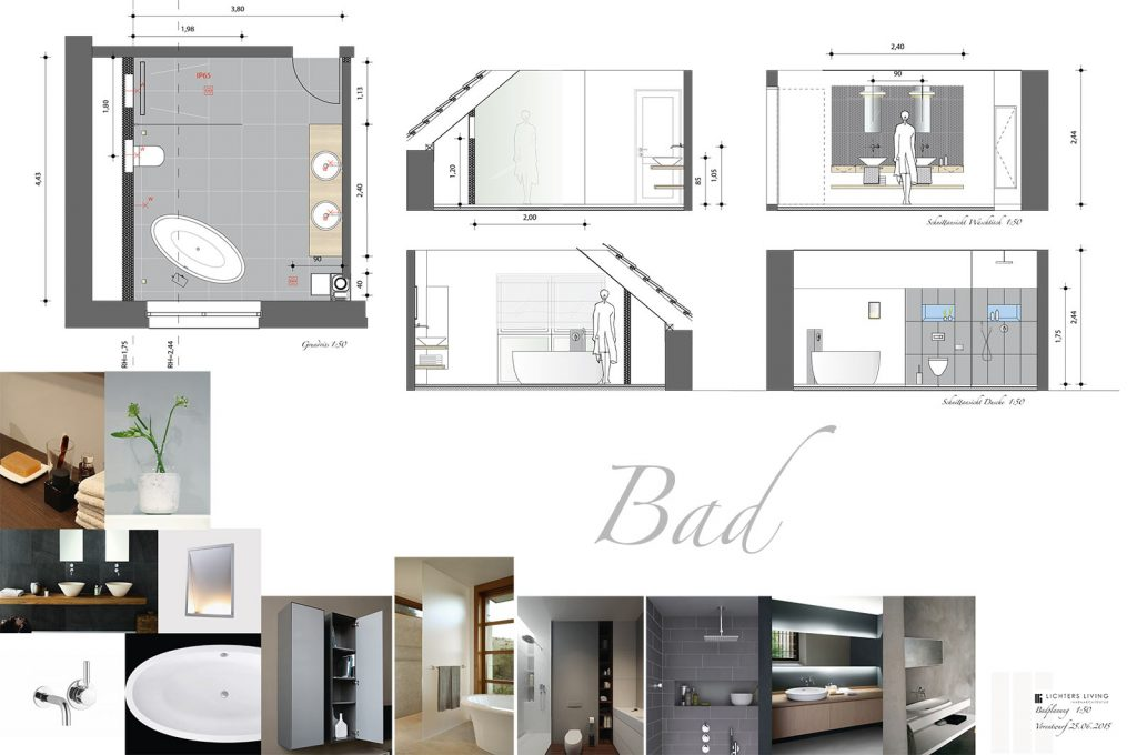 Innenarchitektur lichters living innenarchitektin for Innenarchitektur badezimmer